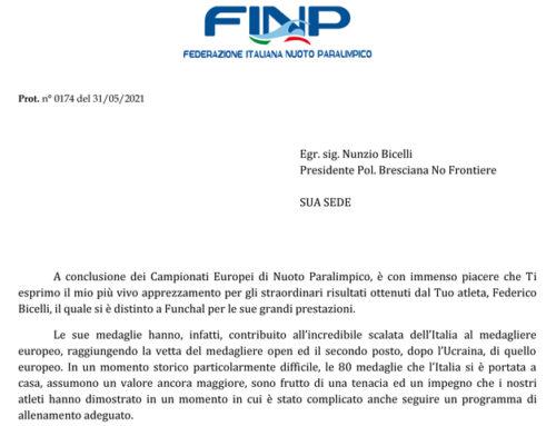 Congratulazioni dalla FINP A No Frontiere